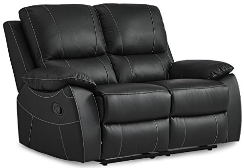 Homelegance Greeley Reclining Loveseat Top Grain Leather Match, - Body Cushion 3 Piece Systems