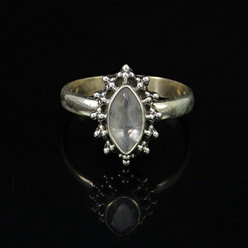 Banithani 925 argent sterling marque anneau de pierre de lune nouveau design femmes bijoux