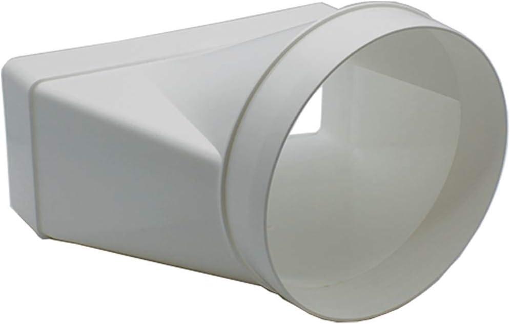 droite 150/mm rond m/âle Conduit adaptateur au rectangulaire 220/x 90/mm support Conduit canal connecteur par Kair Syst/ème 220
