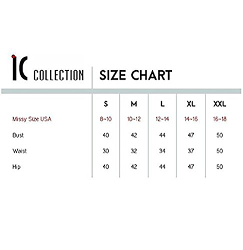 IC Collection Faux Leather Designer Jacket in Blue 2596 (Medium) by IC Collection (Image #4)