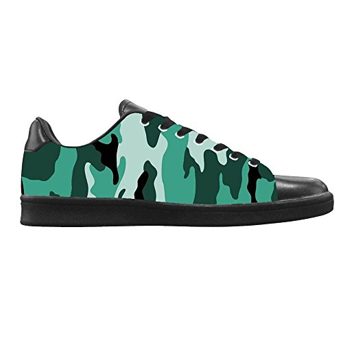 Dalliy tarnung Mens Canvas shoes Schuhe Lace-up High-top Sneakers Segeltuchschuhe Leinwand-Schuh-Turnschuhe E