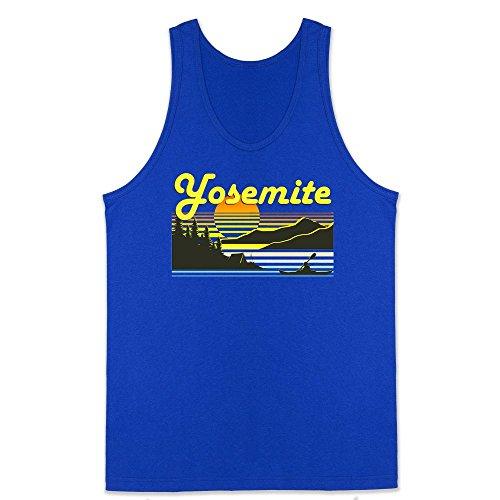 1970s Top - Pop Threads Yosemite Retro Travel Royal Blue XL Mens Tank Top