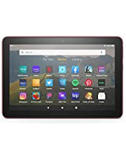 """Fire HD 8 tablet, 8"""" HD display, 32 GB, latest model (2020 release), designed for portable entertainment, Plum"""