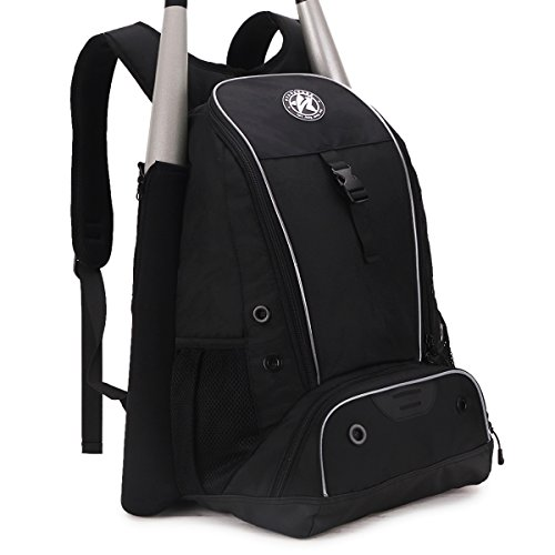 Top Softball Bats - STARCARE Baseball Bat Bag, Softball Equipment Backpack, Bat Pack for Youth and Adults (Black & Grey)