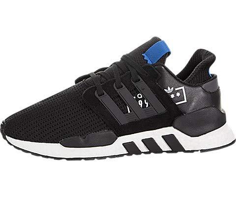 adidas Men's EQT Support 91/18 Black/Black/Bluebird Shoes - D97061 (12)