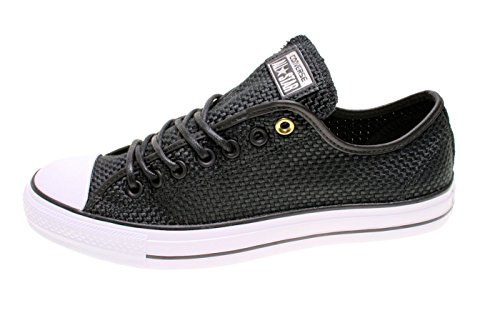 Converse Unisex Chuck Taylor All Star Ox Low Top Classic Black/Black Sneakers - 12.5 B(M) US Women / 10.5 D(M) US Men