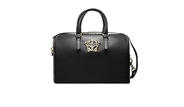 Versace Women s Calf Leather Palazzo Duffle Bag DBFE469 Black  Amazon.ca   Clothing   Accessories 14bec0ae53993