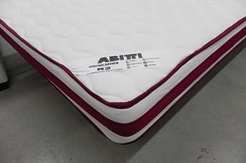 Mivis - Colchon visco abitti r2, medidas 135 x 190 x 21 cm, color blanco: Amazon.es: Hogar