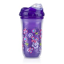 Nuby 9 oz No-Spill Insulated Cool Sipper, Purple