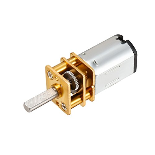 uxcell Micro Speed Reduction Motor DC 12V 200RPM with Full Metal Gearbox 0.18A Electric Gear Box Motor with 2 Terminals for DIY RC Toys