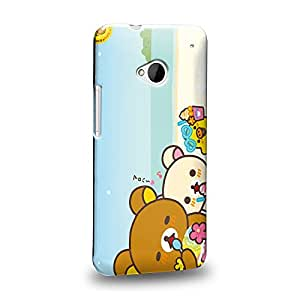 Case88 Premium Designs Rilakkuma Korilakuma Kiiroitori Kaoru Collection 1362 Protective Snap-on Hard Back Case Cover for HTC One M7