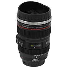 Fotodiox  Lenscup with Stainless Steel Insulated Tumbler (Modeling 1:1 Canon EF 24-105mm f/4L IS USM Lens), 11-Ounce