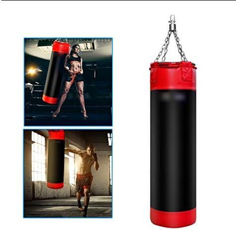 ホームボクシングバッグ三田サンドバッグハングボクシングサンドバッグソリッドパンチングバッグフィットネス機器三田トレーニングサンドバッグ (Color : Black, Size : 32*32*130cm)