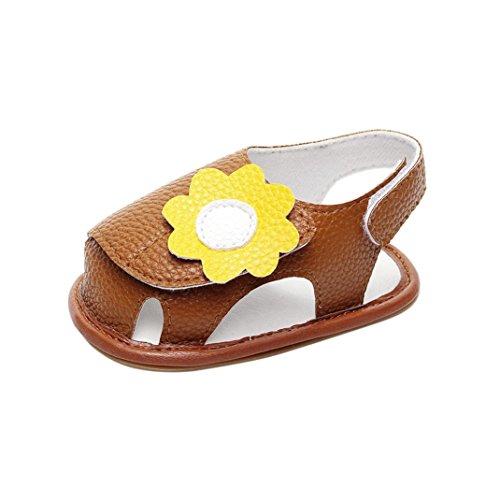 Schuhe für Baby - Sommer Sandalen - Baby Sandalen Gladiator - Fashion Sneaker - Casual Slipper - Schuhe für Kinder rutschfester Sohle für Babys für 0-3 3-6 6-9 9-18 18-24 Monat (18~24M, Rose) Braun