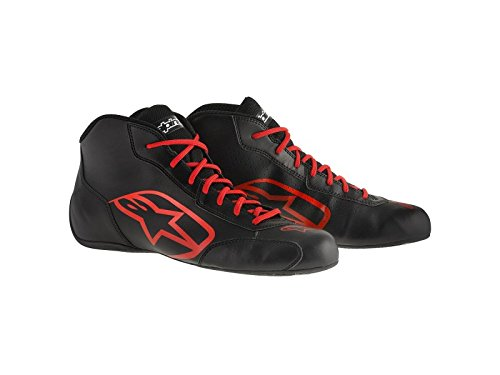ALPINESTARS TECH 1-K START SHOES - BLACK/RED - SIZE 9.5