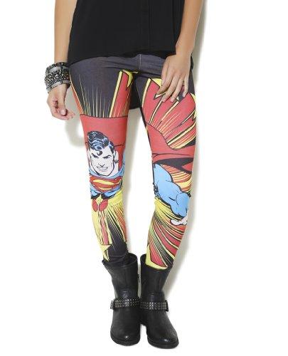 Superman Classic Stars Black Leggings