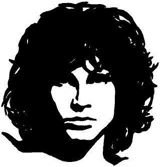 Global Graffix Jim Morrison Face Wall Decal Sticker Home Decor 22