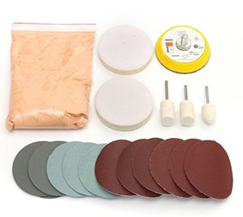 Glass Polishing Kit (Glass Polishing Kit Scratch Removal Cerium Oxide Polishing Powder Polishing Pad And Wheel by Advanced)