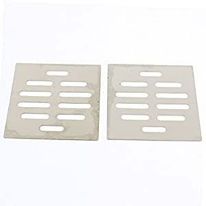 uxcell Kitchen Bathroom Square Floor Drain Drainer Cover 8.7cm x 8.7cm 2Pcs
