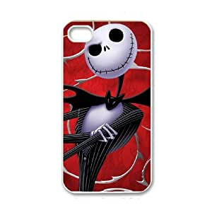iPhone 4 4s White Cell Phone Case The Nightmare Before Christmas KVCZLW1232 Phone Case Cover Customized Unique
