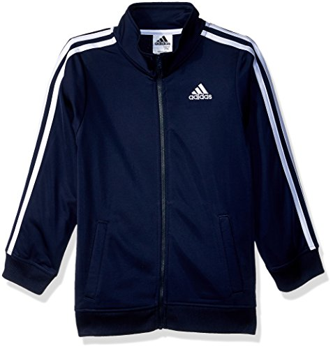 adidas Boys' Big Iconic Tricot Jacket, Collegiate Navy, Medium