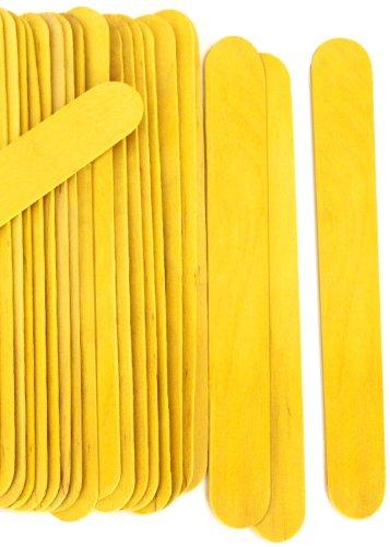100 Wood Jumbo Craft Sticks Yellow Color