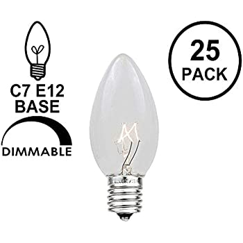 novelty lights 25 pack c7 outdoor string light christmas replacement bulbs clear c7