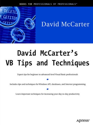 David McCarter's VB Tips and Techniques by Brand: Apress