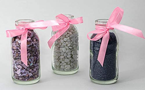 Vitrea 6//12//24 Unidades Redondas de Tipo 156 Mini jarrones de Cristal peque/ños frascos Decorativos Botellas de Cristal jarrones de Cristal 6 Unidades