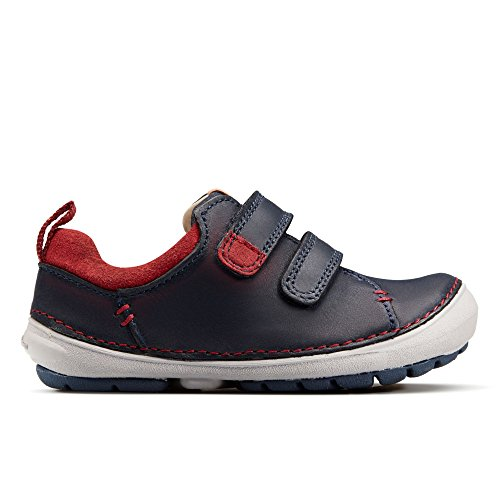 Clarks Softly Toby Fst Boys First Shoes 6.5 Navy