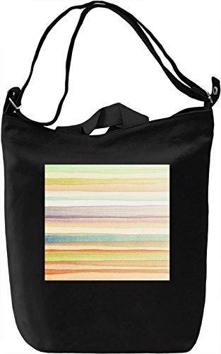 WaterColor Lines Full Print Borsa Giornaliera Canvas Canvas Day Bag| 100% Premium Cotton Canvas| DTG Printing|
