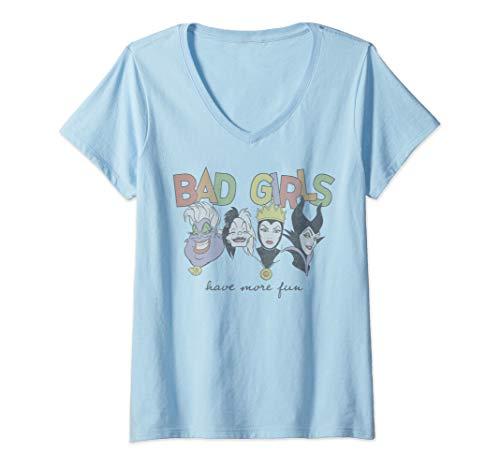 Womens Disney Princess Villains Bad Girls Have More Fun V-Neck T-Shirt ()