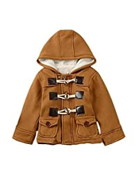 Lewego Unisex Baby Fleece Hooded Jacket Outerwear Duffle Zipper Winter Coat
