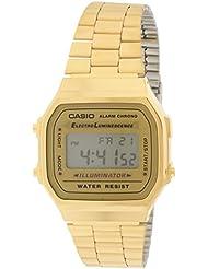 Casio A168WG-9 Mens Vintage Gold Metal Band Illuminator Chronograph Alarm Watch