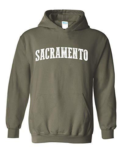 Mom`s Favorite Sacramento City California Traveler Gift Unisex Hoodie (SMG) Military Green ()
