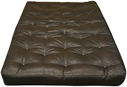 Gold Bond All Cotton 39 W x 6 H x 80 L Futon Mattress, Leather, Twin X-Large, Brown