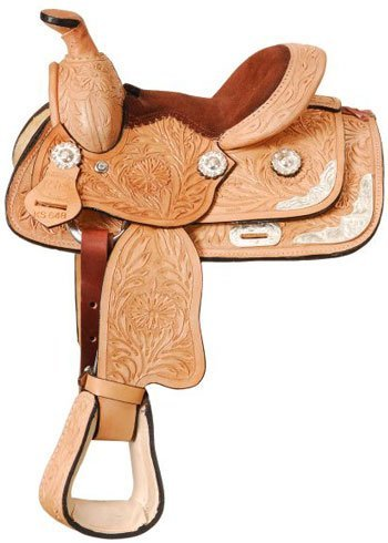 King Series Mini Tooled Silver Show Saddle by King Series