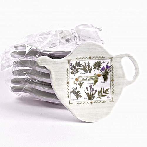 Jcook Home Decor PVC Tea Bag Holders - Set of 6