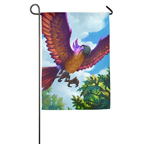 TTIWEP Jeweled Macaw Garden Flag Indoor & Outdoor Decorative Flags For Parade Sports Game Family Party Wall Banner,1218inch
