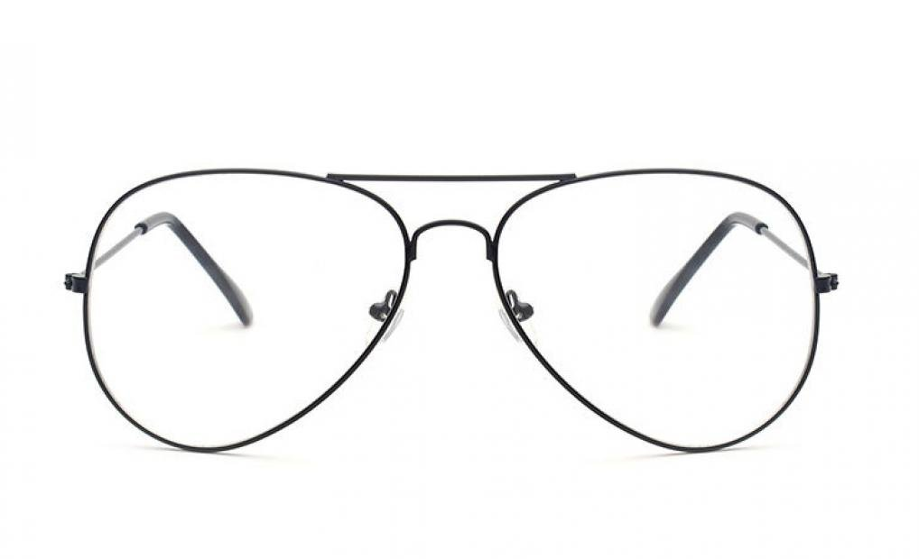 355f6195a4bb ... WODISON Kids Classic Aviator Eyeglasses Children Clear Lens Retro Plain Eyewear  Metal Frame Glasses Age 2 ...