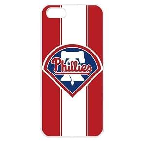 MLB Major League Baseball Philadelphia Phillies Apple iPhone 5 TPU Soft Black or White case (White)
