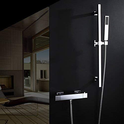 BZM-ZM (リフトロッドセット付き)銅サーモスタットの蛇口シャワーセットサーモスタットバルブリフトロッドシャワー金具、D316-2現代の品質保証とシンプルな古典的なレトロラグジュアリーホームデコレーション
