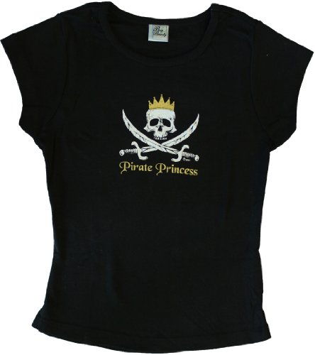 Pirate Princess - Baby Doll Pirate T-Shirt (Flag Baby Doll T-shirt)
