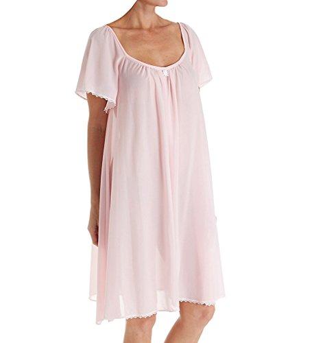 Amanda Rich Short Sleeve Knee Length Nightgown (146B) XS/Pink Amanda Knee Length Nightgown