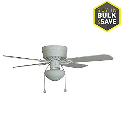 Harbor breeze armitage 42 in white flush mount indoor ceiling fan harbor breeze armitage 42 in white flush mount indoor ceiling fan with light kit aloadofball Gallery