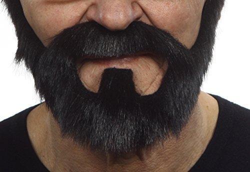 On bail black lustrous fake beard, self (Fake Black Beard)