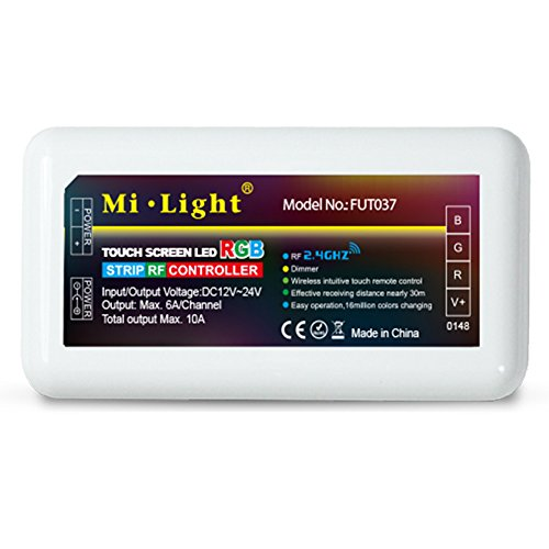 LGIDTECH Mi.Light FUT037 RGB LED Strip 2.4GHz RF Wireless 4-Zone Controller Receiver Box,Work With Milight RGBW Remote,B3 T3 Panel,Smartphone APP Control Via WiFi iBox Hub(All is Sold Separately)
