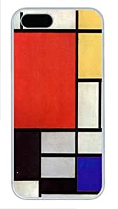 Piet Mondrian Art Custom Hard Case Cover for iPhone 5s and iPhone 5 - Polycarbonate - White