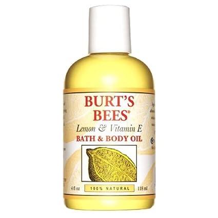 Abejas Limón Y Vitamina E Aceite De Baño Corporal De Burt (4 Oz Fl /