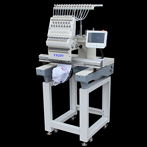 - YQ-1501 Automatic Single 15 Needle Computer Embroidery Machine Flat Embroidered Hat Embroidery Clothing Embroidery Customize Embroidery Machine
